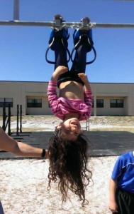 Daughter using Gravity boots
